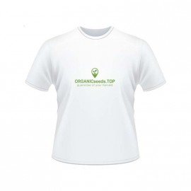 White Men's Branded T-shirt - ORGANICseeds™